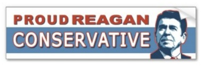 Proud Reagan Conservative Bumper Sticker